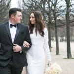 Candlelit Winter White Paris Wedding